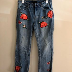We Wore What Jeans with Embroideries